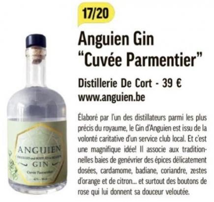 17/20 pour le gin Anguien
