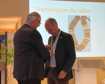 Discours de notre ami Laurent, président de l'année 2021/2022,  à l'occasion de la passation de pouvoir du 24/06/2021.