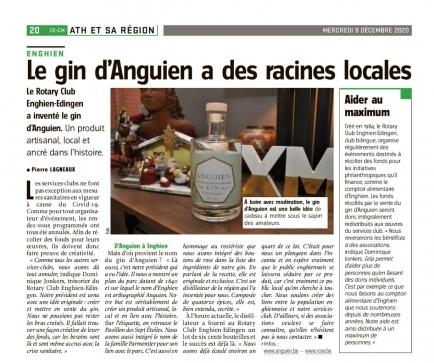 """La presse parle du gin """"Anguien""""..."""